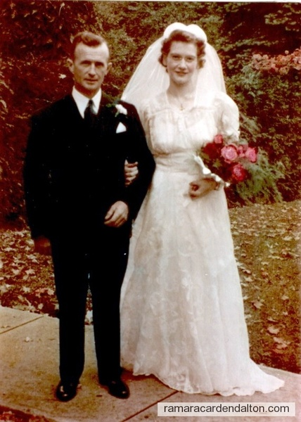 Charles & Anne Healy-Wedding Day, Oct. 6, 1942, St. Margaret's Church, Midland, ON