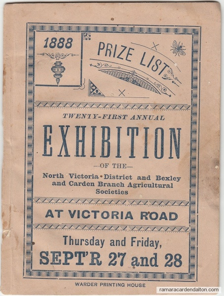 Programme--1888 Victoria Road Fair