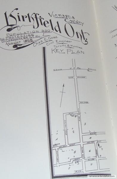 Kirkfield Town Plan 1898