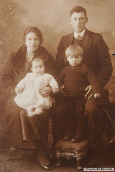 Patrick and Bridget (Kelly) SCOTT Philip and Mary Scott as children c 1921