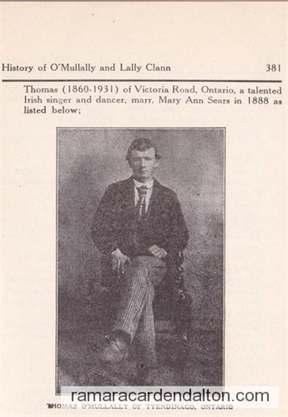 Thomas (Mullally) MILLALEY 1860-1931