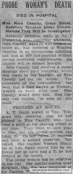 Miss Nora Cassidy