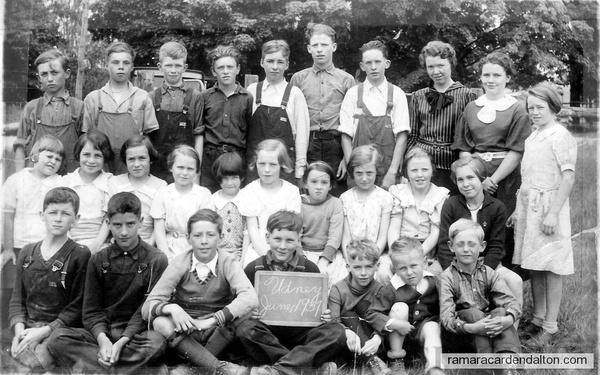 S. S. #9, Udney-1937