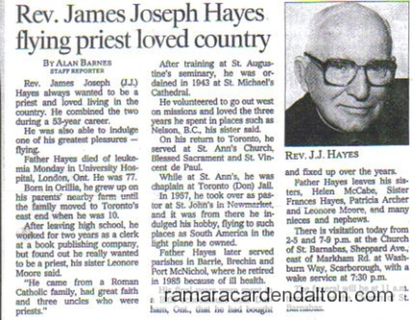 Rev. James Joseph Hayes
