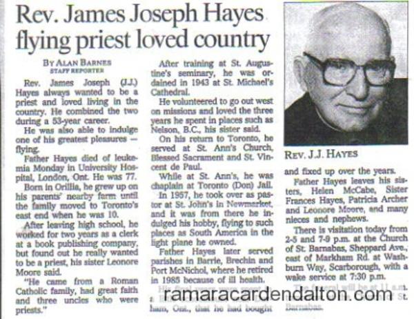 Rev. James Joseph Hayes
