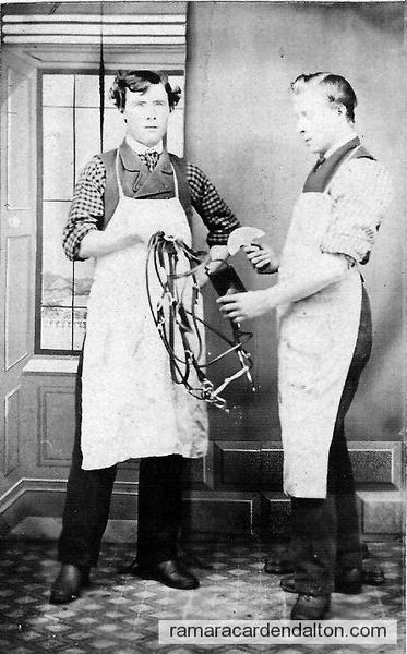 R.J.Dissette & Robert Hoy,1870 at Harness Shop