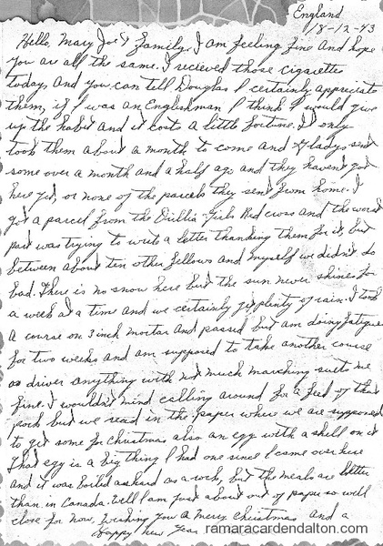 Letter from Ambrose P. Doherty-Dec. 18, 1943