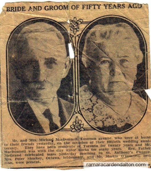 Michael McDonnell & Margaret Moffatt