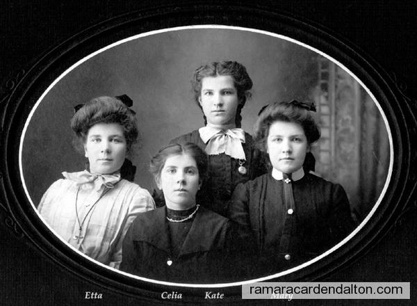 Etta, Celia, Kate, &  Mary Kelly.
