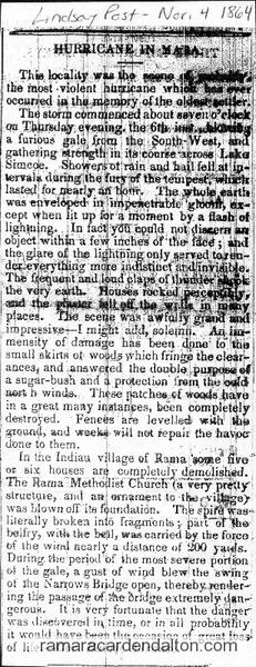 Hurricane in Mara-Nov. 4, 1864