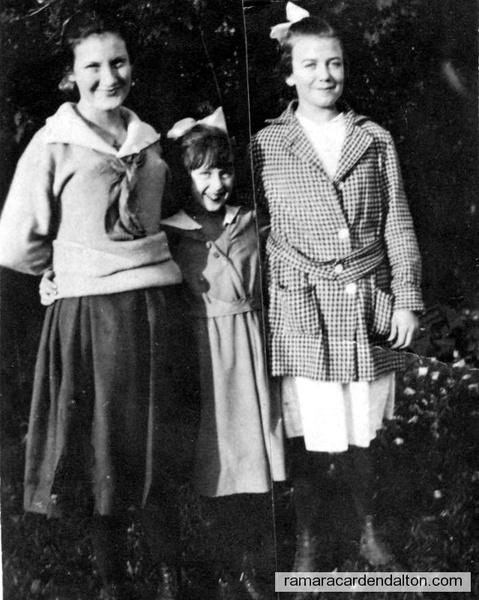 Alma Mahoney, Mary Foley, Gladys Doherty (12 yrs old)