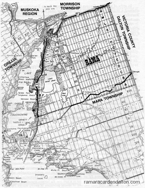 Rama Township Map