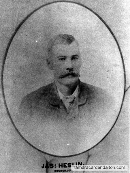 Jas. Heslin-1893 Councillor-Rama Township