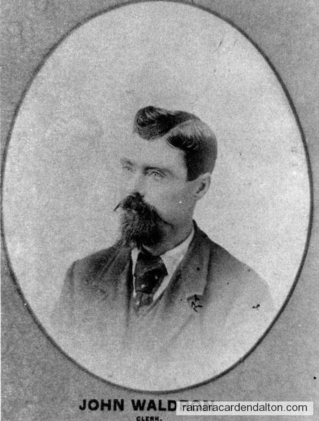 John Waldron-1893 Clerk-Rama Township