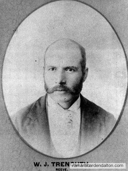 W. J. Trenouth-1893 Reeve-Rama Township