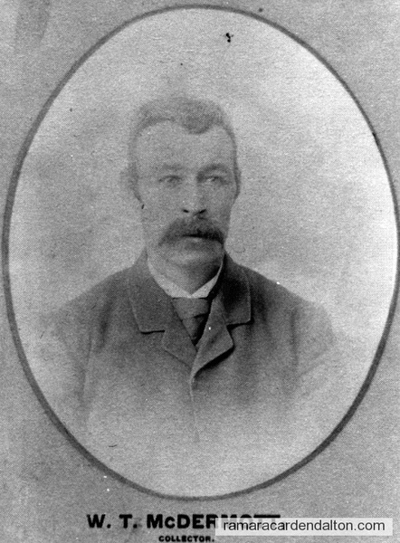 W. T. McDermott-1893 Collector-Rama Township