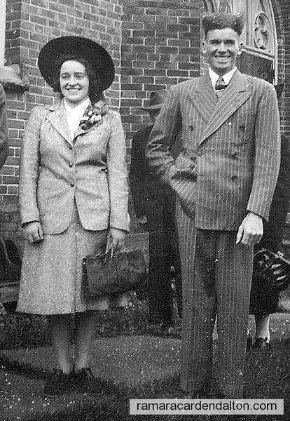 Basil & Dorothy Harrington's wedding 1942