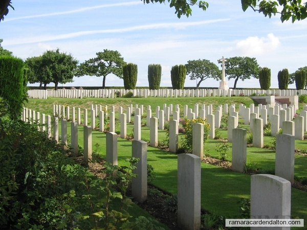 8--Abbeville WAR CEMETERY, resting place of Russell McCUAIG