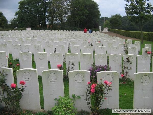 -Villers Bretonneaux cemetery, resting place of Arnold Curran