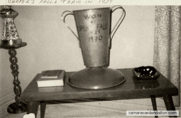 Cooper Fall's Team wins cup in 1929