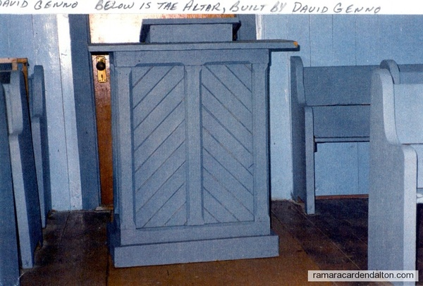 Altar built by David Genno
