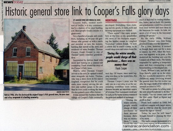 Cooper's Falls Store